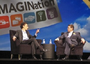 Author Malcolm Gladwell speaks to NAB President and CEO David K. Rehr